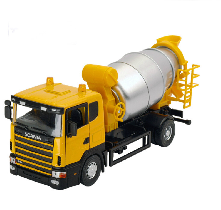 Alloy Diecast Concrete mixer truck Model 1:43 mini Engineering vehicle Collection gifts Toy(China (Mainland))