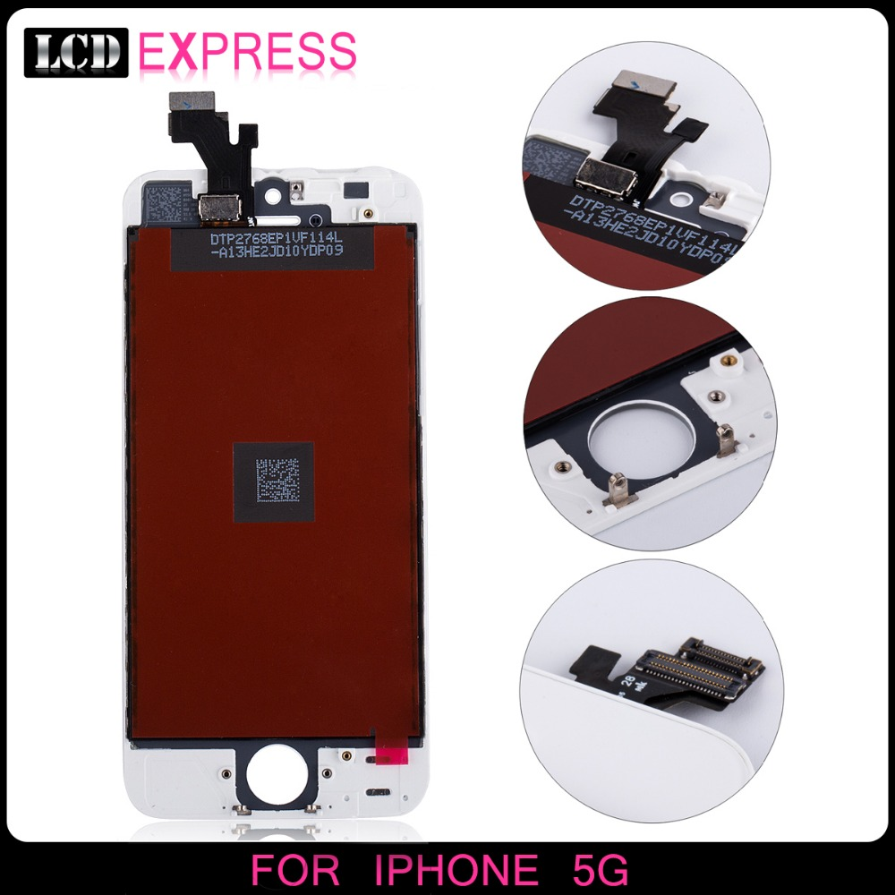 Top Quality mobile phone spare parts LCD For iphone 5 Display(China (Mainland))