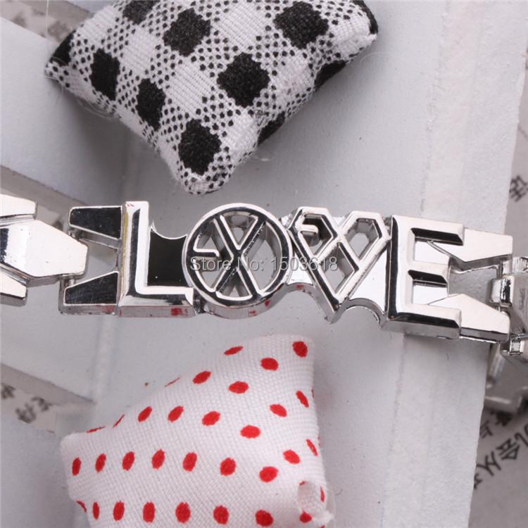 Wolf and beauty star EXO bracelets K group round mini gifts bracelet wholesale hot new metal bracelet wristband men jewelry(China (Mainland))