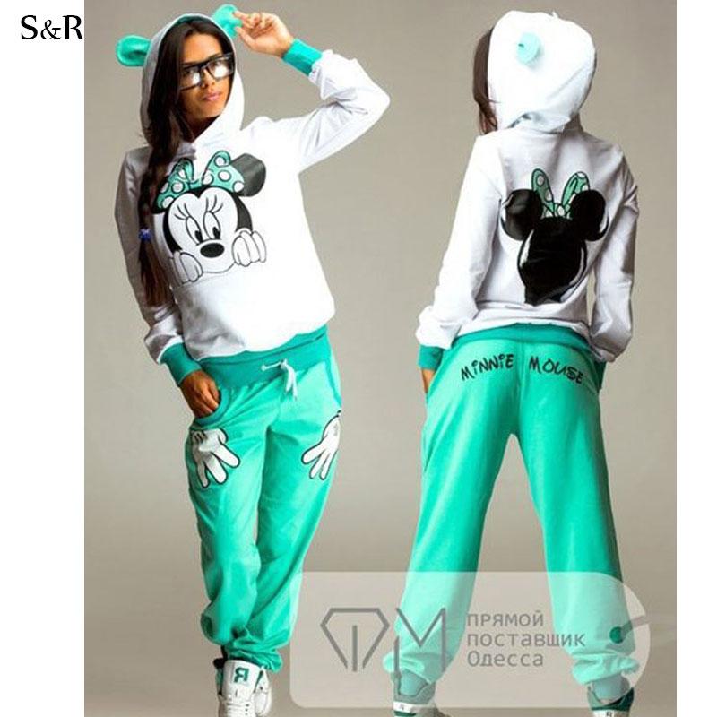 Simple New Women Velour Hoodie Track Suit Jacket Sweat Pants Set Sports Yoga