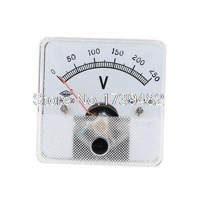 Class 2.5 Accuracy DC 0-250V Panel Gauge Voltmeter Voltage Meter DH50(China (Mainland))