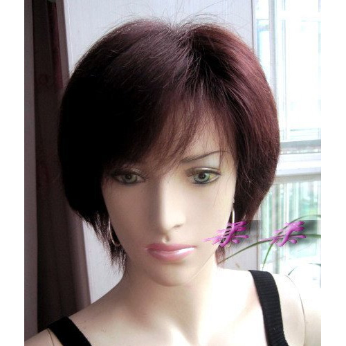 real hair wig fluffy short hair female young women-inBlended Hair ...
