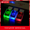 YUFANYF 2017 pendrive 3 colors Red blue green LED BMW car LOGO USB falsh drive 4GB