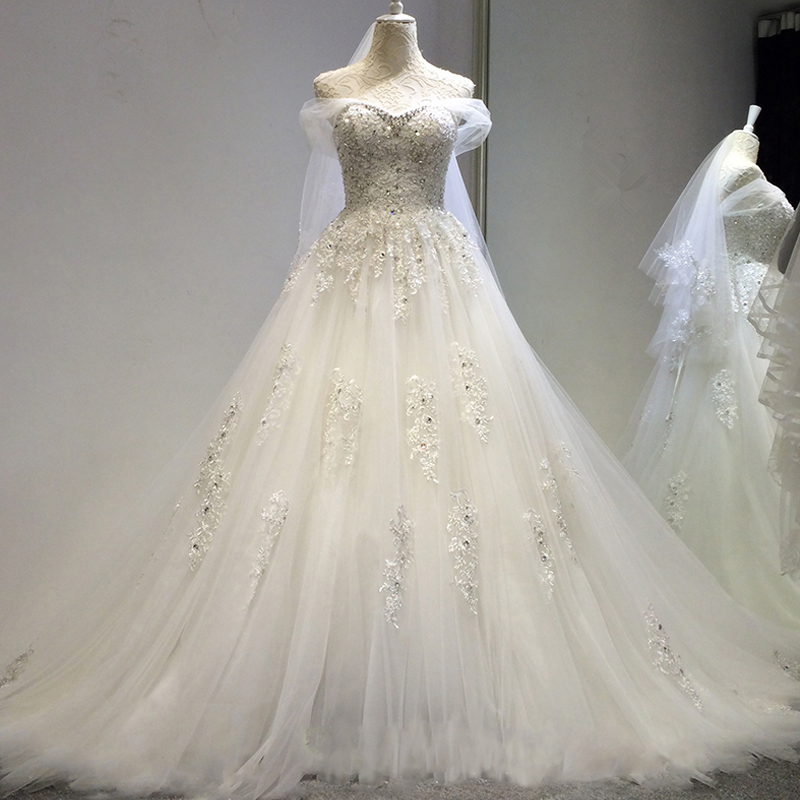 Online get cheap silver ball gown for Sparkly beach wedding dresses