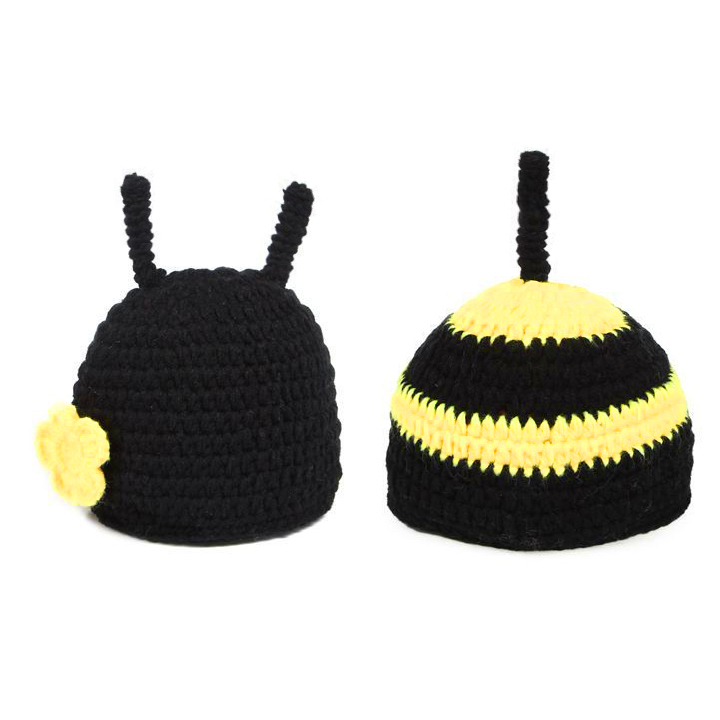 2015 New Baby Beanie Hats Set Photography Props Costume Photo Knit Animal Bee Frozen Crochet Hat Cap 18008 y(China (Mainland))