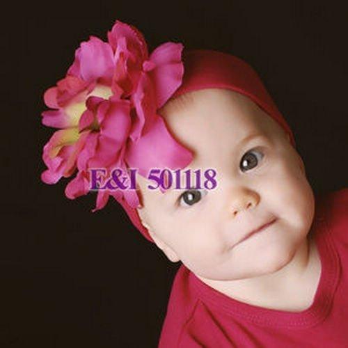 High quality Baby's girl's headband daisy flower waffle string headbands flowers Hair band Accessories 12pcs