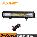Auxmart 16 inch Offroad LED Light Bar CREE Chips 216W Led Work Light 12V 24V For