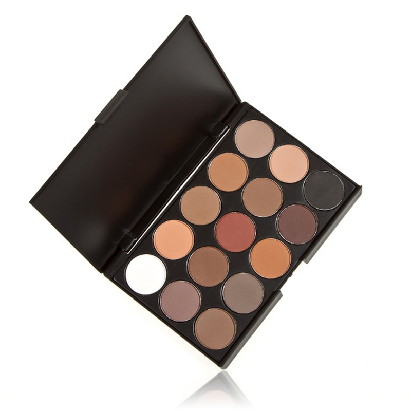 15 Earth Color Matte enrolled Pigment Eyeshadow Palette Cosmetic Makeup Eye Shadow for women(China (Mainland))