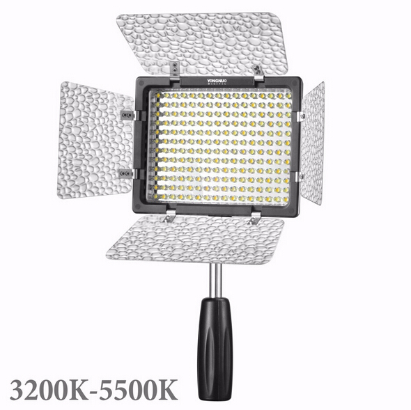 Free shipping - YONGNUO YN-160 LED Photo Video Light DV Camcorder Lamp + 4 Color Filter + Hotshoe<br><br>Aliexpress