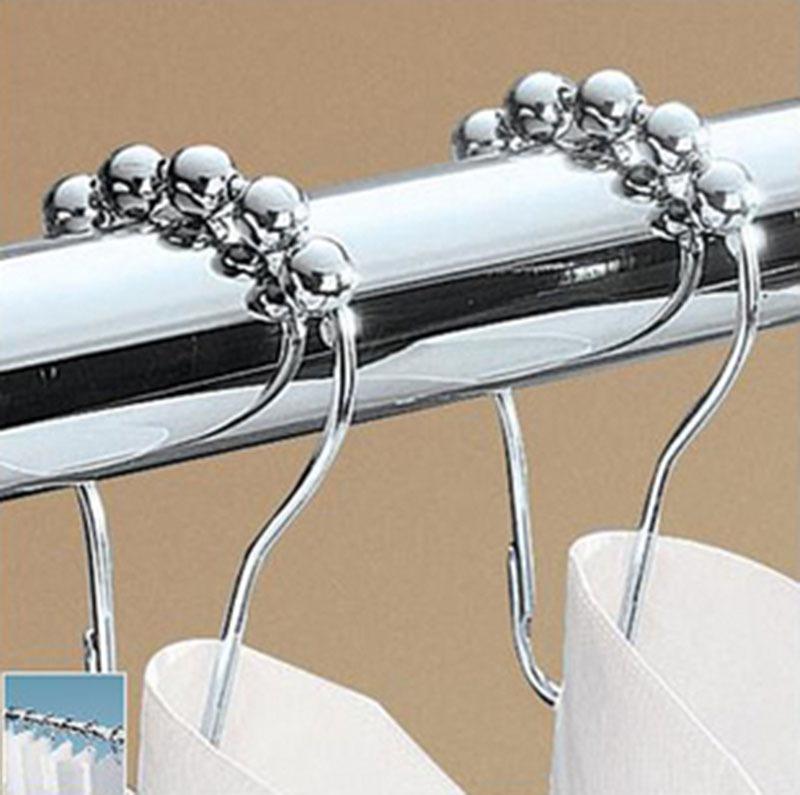 roulant douche crochets de rideaux anneaux rouleau 5. Black Bedroom Furniture Sets. Home Design Ideas
