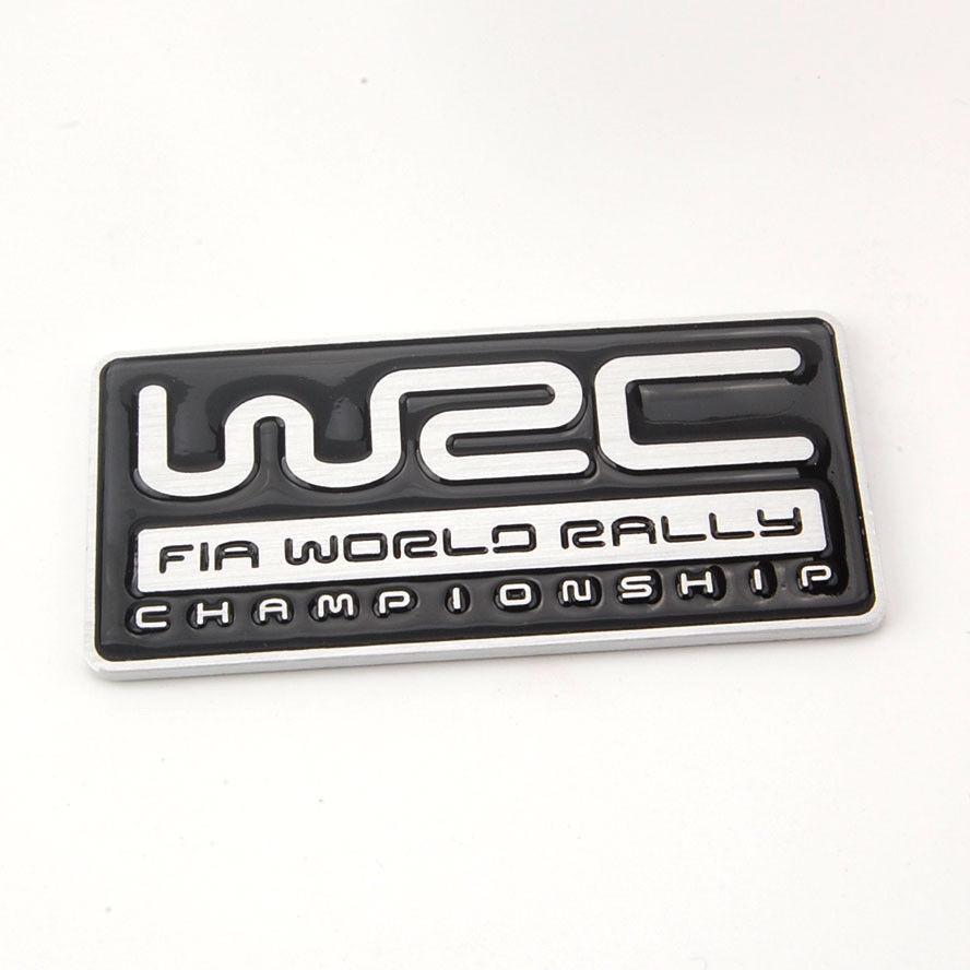 Auto 3D Aluminum WRC Fia World Rally Championship Badge Emblem Sticker  Black Fit for Impreza