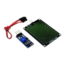 Free shipping Rain Sensor Water Raindrops Detection Module For arduino Raspberry Pi(China (Mainland))