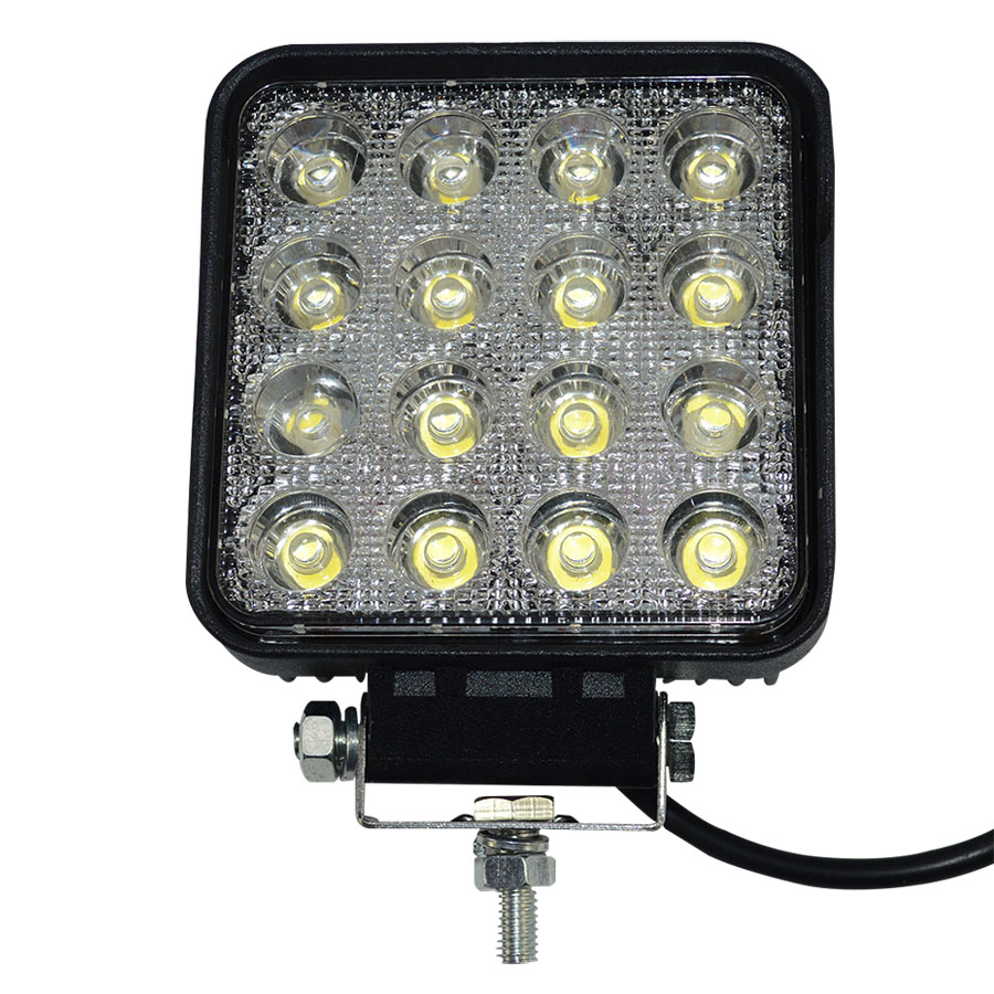 1pcs 12v 24V 4WD BOAT SUV TRUCK TRAILER MOTORCYCLE 48W led Work Light 48W led driving light epistar chip offroad waterproff(China (Mainland))