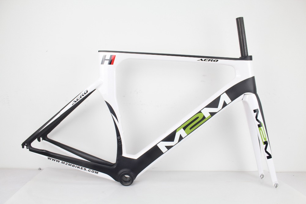 Hot sell carbon bicycle frame 54CM BSA road bike frame cheap carbon frame in white paint with logo ONLY 54CM(China (Mainland))