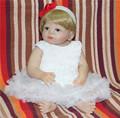55cm New Full Body Silicone Reborn Baby Doll Toys Newborn Girl Baby Doll Christmas Gift Birthday