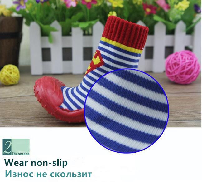 Toddler Kids Boots   Baby Socks Children Socks Soft Bottom Non-Slip Floor Girl Boy Newborn Enfant Shoes Socks  WS9321