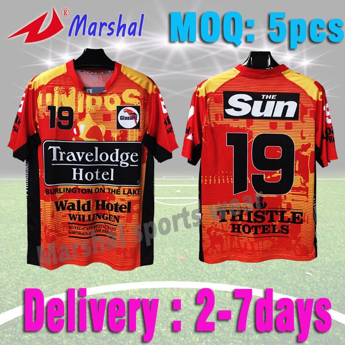 Hot Sale Orange Soccer T Shirt Grade Original Soccer Jersey Design In Stock 100% Full Sublimated Football uniform(China (Mainland))