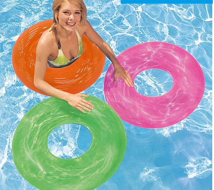 Intex Boia Infantil Promotion Baby Swimming Ring 2015 Genuine Neon Light Adult Swim Circle Pool Floats For Adults Inflatable(China (Mainland))