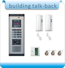 Trasporto libero diy dc-building talk-back + sistema di controllo accessi rfid + 2 citofono + 1 decoder + 10 pz carta di rfid  (China (Mainland))