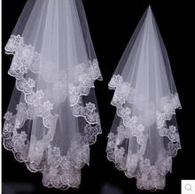 1 Layer 1.5m White Ivory Lace Bride Voile mariage Bridal Veil wedding accessories velos de novia veu de noiva com renda(China (Mainland))