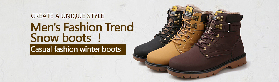 2015 Fashion Casual Men Women Boots Autumn Winter Suede Tooling Snow boot Leather Flats Couples Martin shoes zapatos mujer botas