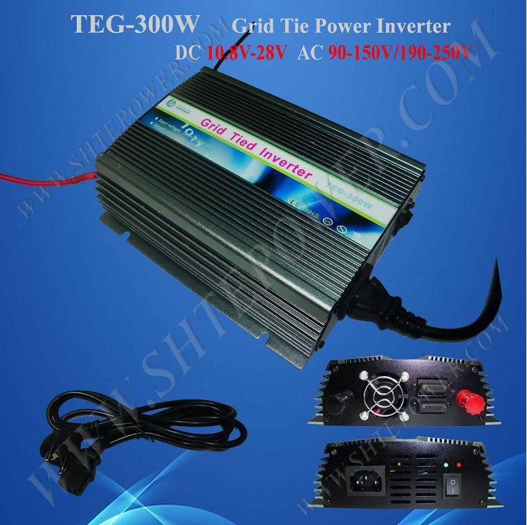 300w 12v 24v dc to ac 220v 230v 240v grid tie solar inverter(China (Mainland))