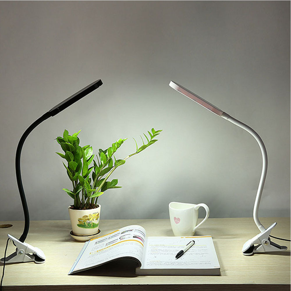 Flexiable Touch on Dimmable Clip Led Desk Lamp Table Light Book Reading Lamp Led Clip lights<br><br>Aliexpress