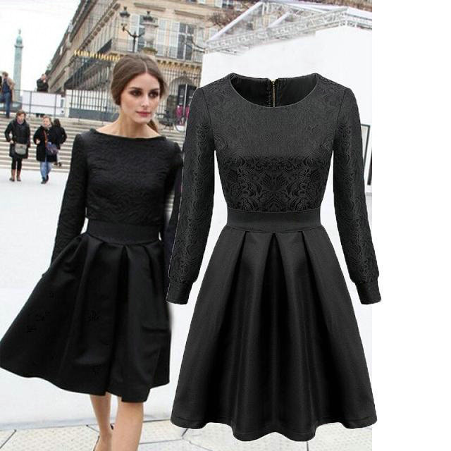 Vestido negro para boda tarde