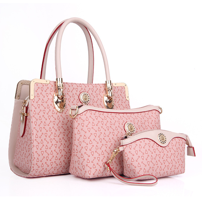 Bolsas Femininas 2014 New Pink High Quality PU leather Women Composite Bags Party Bags Bolsos Mujer De Marca