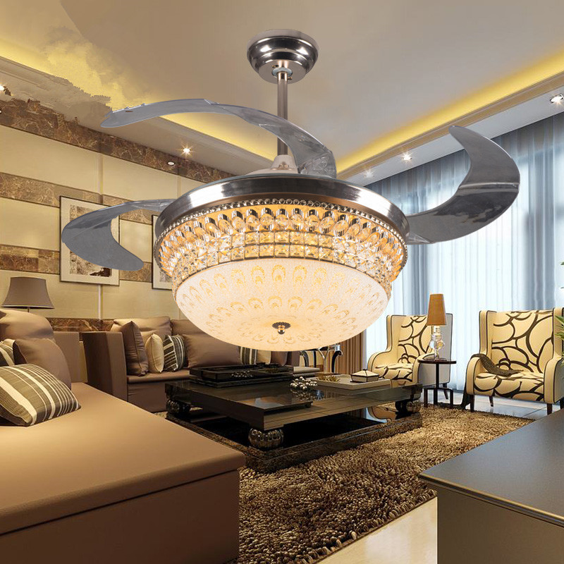 decorative 42inch acrylic blades ceiling fan light for