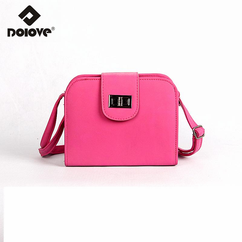 DOLOVE 2016 Hot Selling Small Bag For Women Gandbags Women Nice Shoulder Bag Women Scrub Cortex Leather Messenger Bags(China (Mainland))