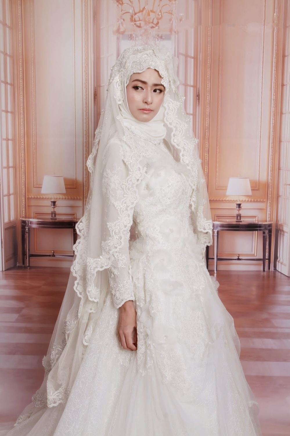 discount islamic wedding dresses with hijab