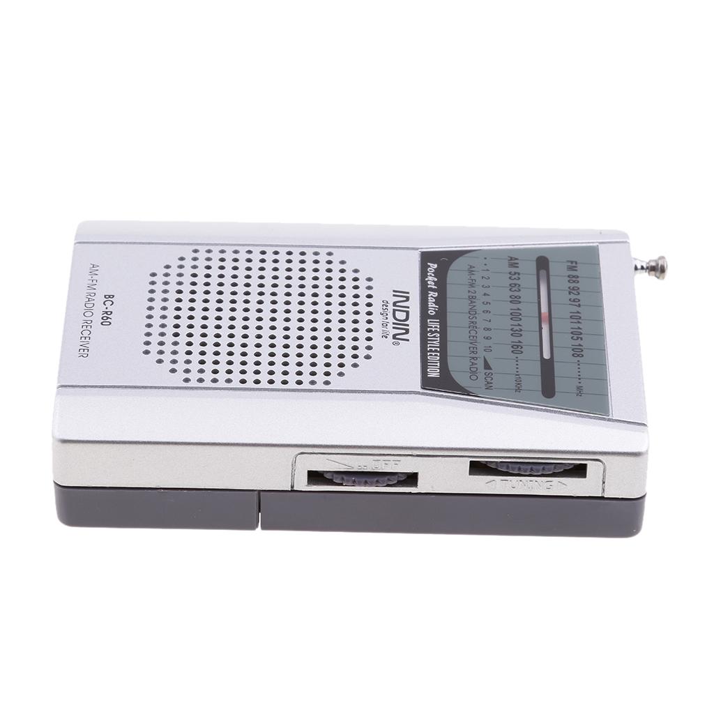 Mini Portable Pocket AM FM Radio Speaker Telescopic Antenna 3.5mm Jack Superior Sound Quality