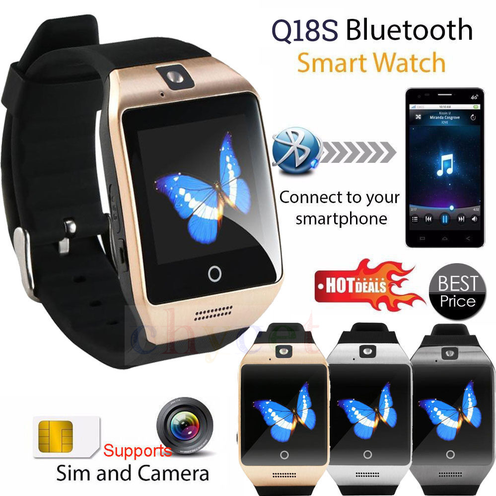 2016 Newest Bluetooth smart watch Apro Q18s Support NFC SIM GSM Video camera Support Android/IOS Mobile phone pk GT08 GV18 U8(China (Mainland))