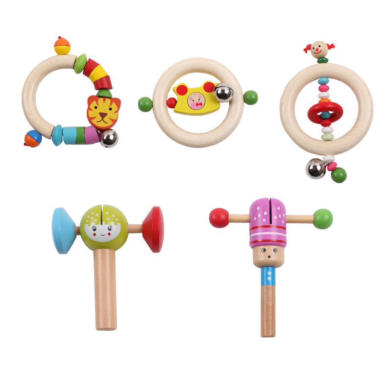 Jessie Store!New Arrived Wooden Musical Toys Baby Hand Bell Rattles Toys Creative Shaking Toys Free Shipping(China (Mainland))