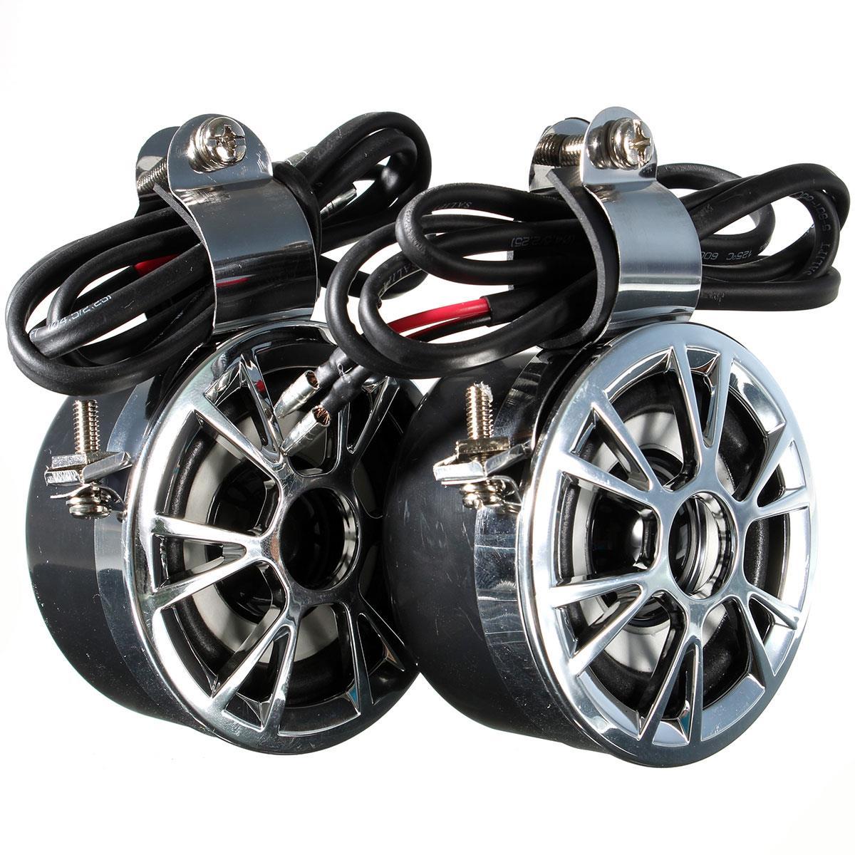 Super LOUD + WATERPROOF Universal Motorcycle Motorbike Handlebar Speaker Stereo Amplified Horn 12V 15-30W For Honda For Yamaha(China (Mainland))