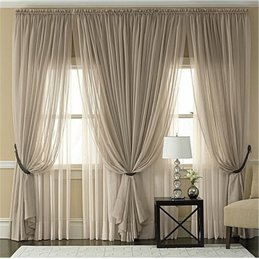 Popular organza curtain buy cheap organza curtain lots Contemporary drapes window treatments