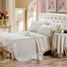 Summer 100% Linen Bed Sheet Set Twin Full Queen Size Bedding 3pcs Plaid Phoenix Pattern New Design(China (Mainland))