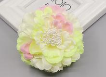 Acessório do cabelo tecido peônia grande buquê de flores broche de flor chapéu criança desgaste do trabalho vestido cheio Grampo de Cabelo de festa de casamento Nupcial