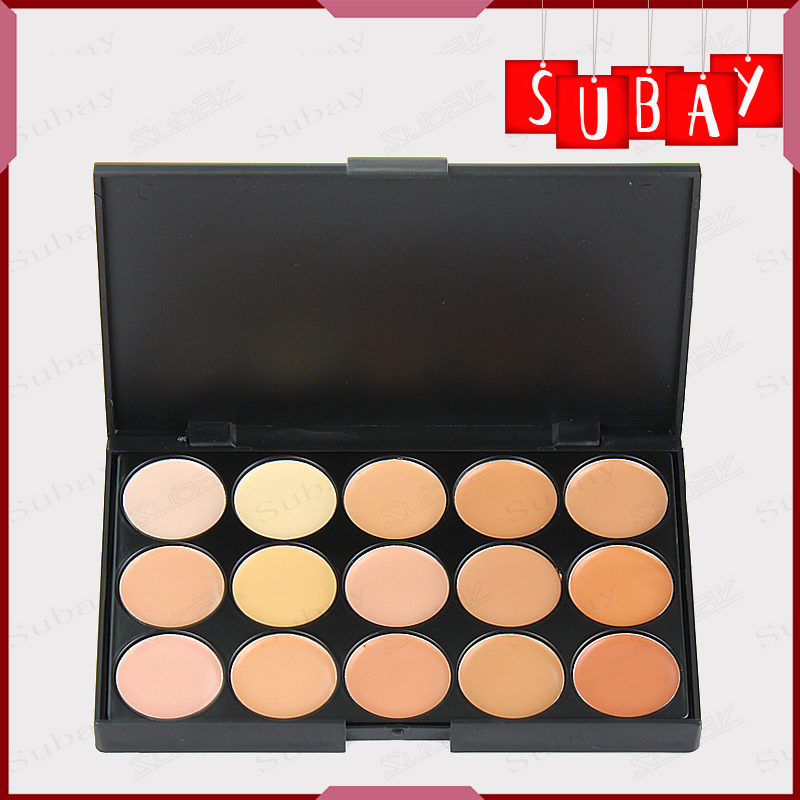 New Brand Women Face Makeup Concealer Professional Cosmetic 15 Color Make Up Cream Camouflage