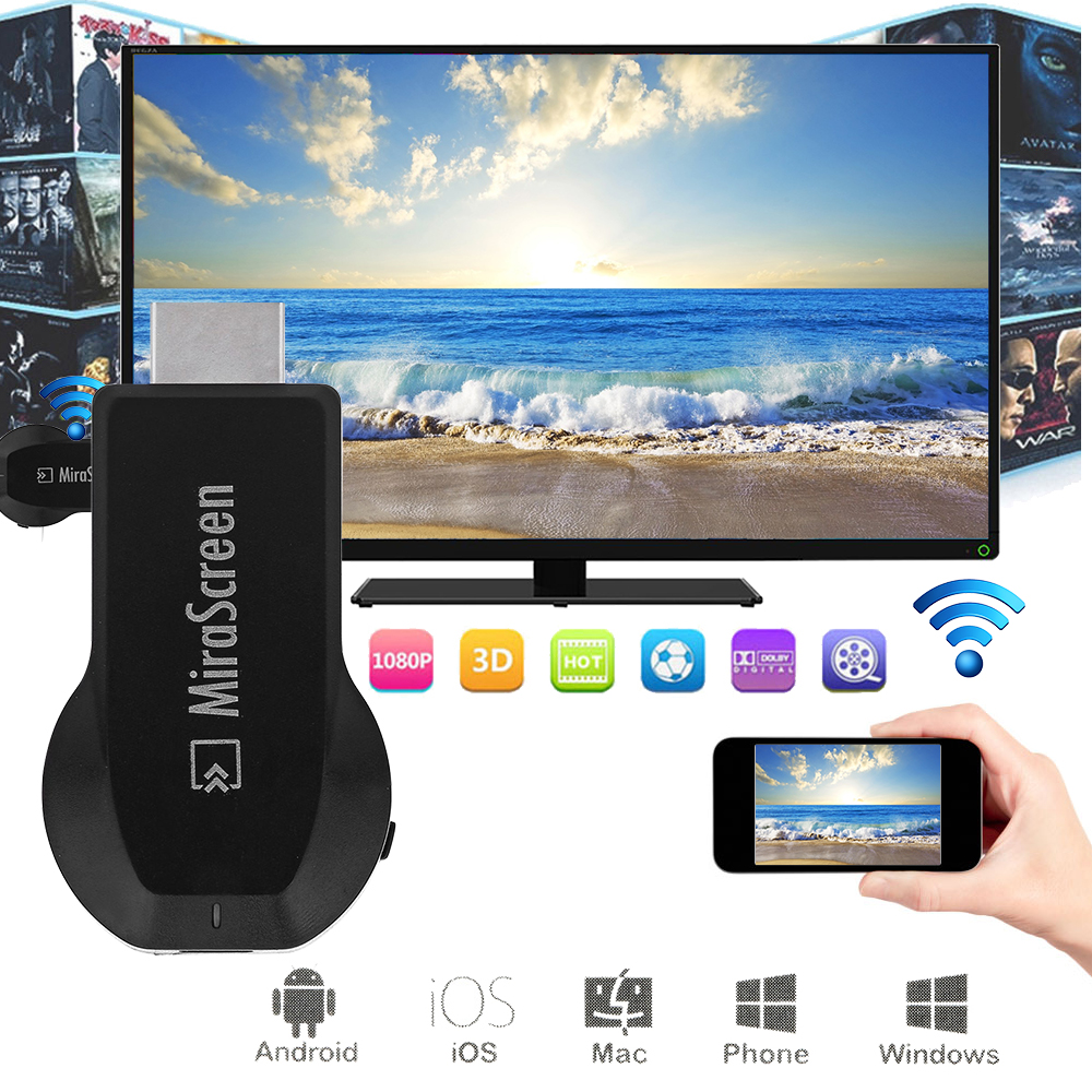 Mirascreen DLNA Airplay WiFi Display Miracast TV Dongle HDMI Receiver Mini Android TV Stick Full HD(China (Mainland))