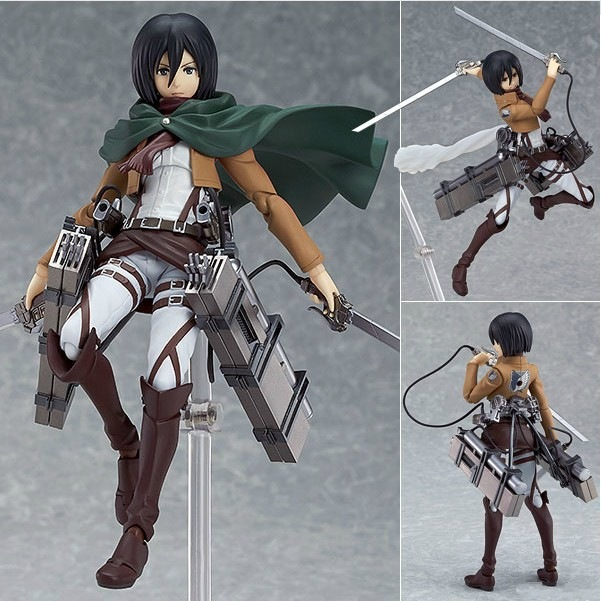 15CM Anime Attack on Titan Figure Status Figma Brinquedos 203 Mikasa Ackerman Juguetes PVC Action Figure Collectible Model Doll(China (Mainland))