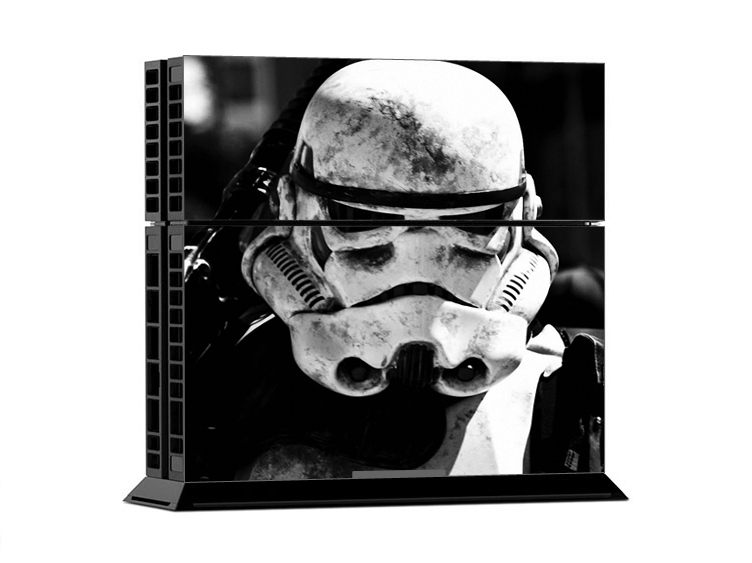 Classical Stormtrooper Style Protective Vinly Decal Wrap For PS4 Playstation 4 Console Skin Stickers 2Pcs Controller