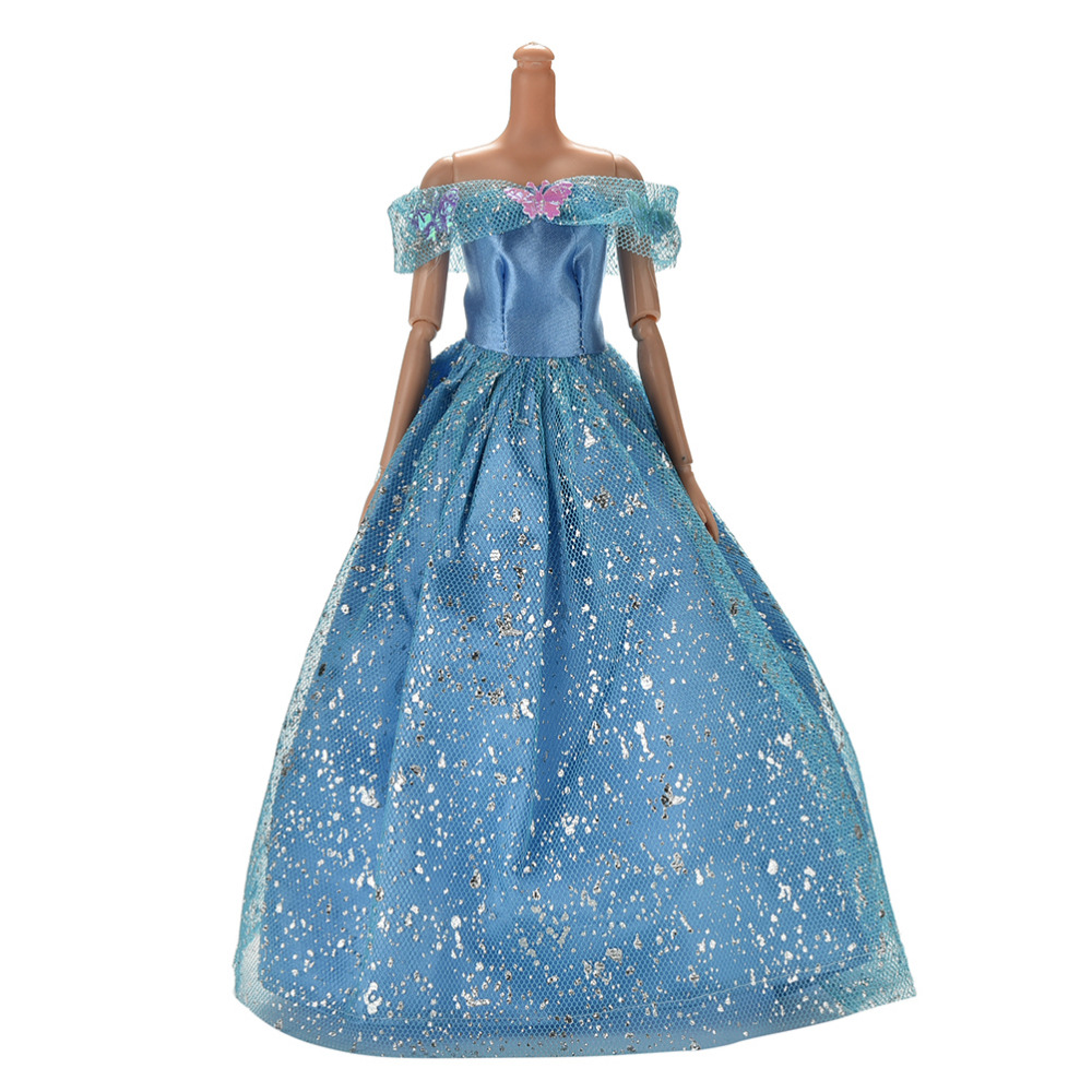 2016 Handmake Wedding Dress Fashion Clothing Gown For Barbie Doll Accessories Summer Dresses(China (Mainland))