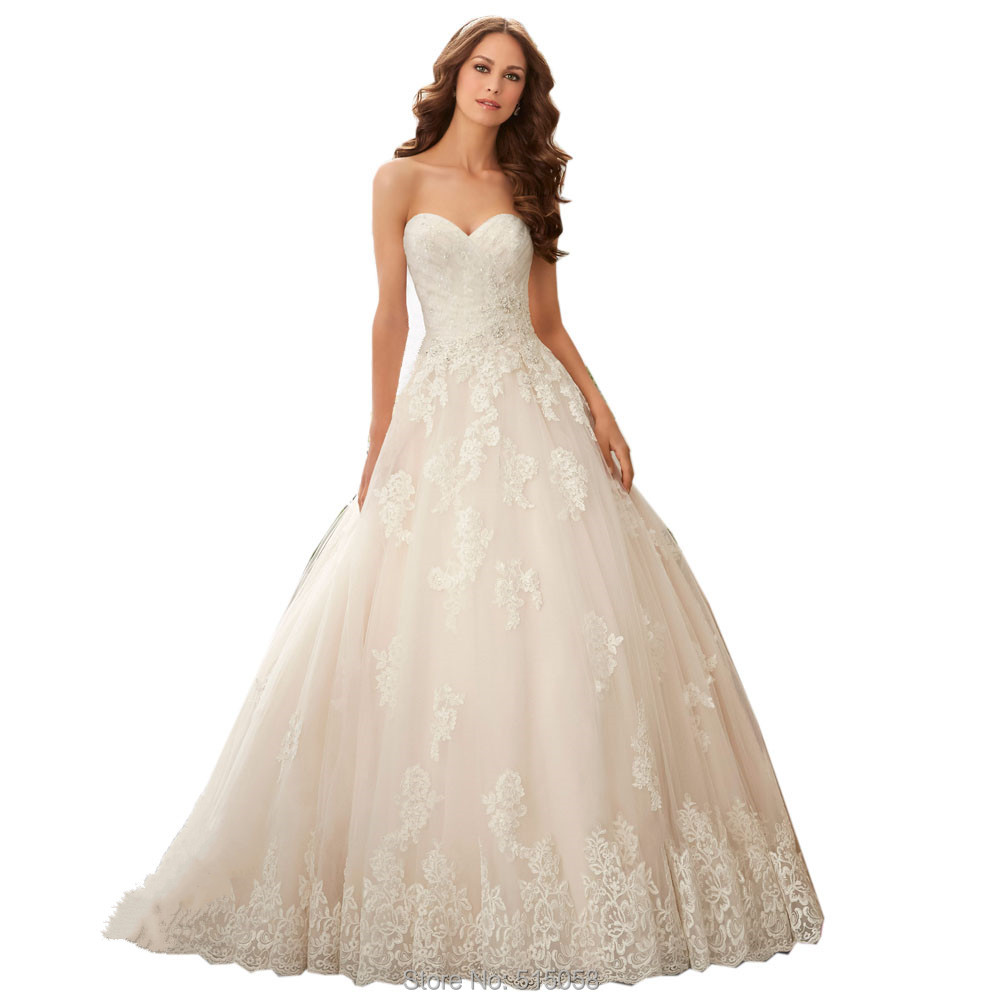 Buy romantic lace appliques sweetheart for Wedding dress in stock