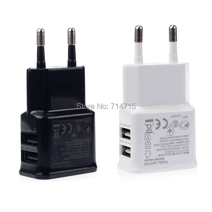 2A Dual 2 Ports USB EU Wall Charger Adapter for Samsung for iPhone for HTC for MOTO Perfect(China (Mainland))