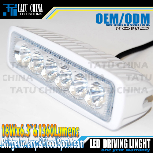 Free Shipping New 18W WHITE MINI LED Light Bar for offroad truck tractor LED Work Light SUV ATV 4X4 LED Driving Light(China (Mainland))