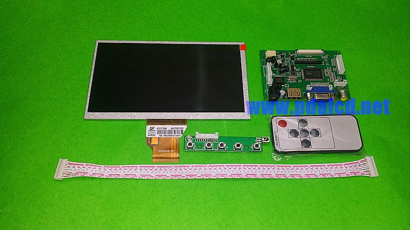 INNOLUX 7.0 inch Raspberry Pi LCD Display Screen TFT Monitor AT070TN92 Kit HDMI VGA Input Driver Board - Shenfa communication equipment co.,ltd store