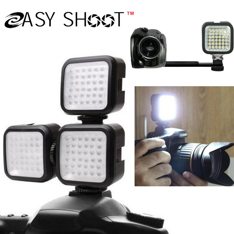 Mini 3LED Video Light Photography Lamp Sony Canon Nikon Camera Camcorder DV+Free Led Bracket - Shanghai Easy Shoot Technology Co.,Ltd store