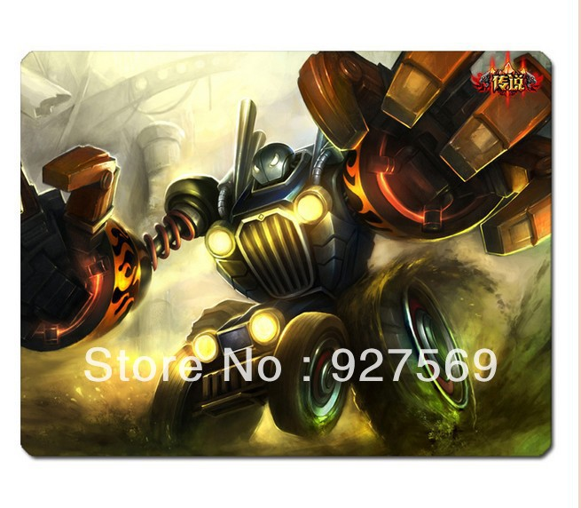 Factory Price Authentic Piltover Customs Blitzcrank Skin Mouse Pad 300*250*5mm Free Shipping(China (Mainland))